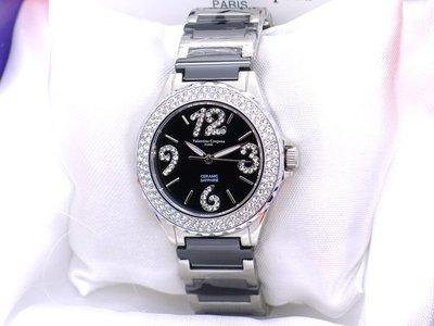 《時光流域》Valentino 范倫鐵諾 高精密陶瓷似香奈兒J12晶鑽數字女錶/ 男錶-水晶鏡面 晶鑽框 台中市