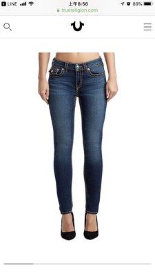 True Religion Jennie curvy skinny super t jean size26 現貨 購於美國 保證正品