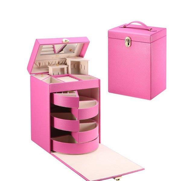 5Cgo【鴿樓】會員有優惠 523226985666 歐式首飾盒公主飾品盒手飾收納盒多層戒指項鏈收納盒