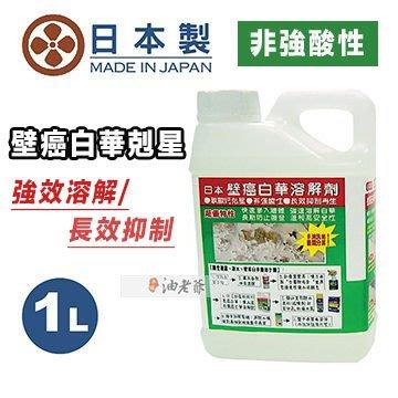 1公升 日本壁癌白華溶解劑  去白霉 非強酸性 長效抑制再生 快速滲入牆體 強速溶解白華 油老爺快速出貨