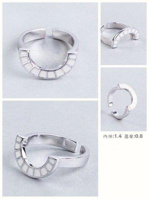 ~Willa髮飾/小物/包包本舖~925銀戒指馬蹄鐵造型可調戒子