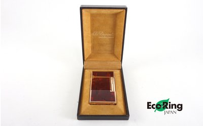[Eco Ring]*St Dupont Lighter / Metal /Red+Gold/82CKP12/No Gas*Rank B -207000167-