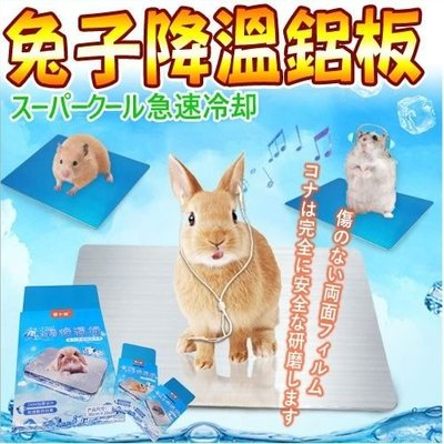 【🐱🐶培菓寵物48H出貨🐰🐹】DYY》兔兔專用涼墊能迅速降溫 消暑 散熱墊 鋁板-兔子用30*20cm