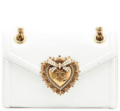 EZ Fashoin 2018FW義大利進口真品Dolce&Gabbana真品Von側背包-白