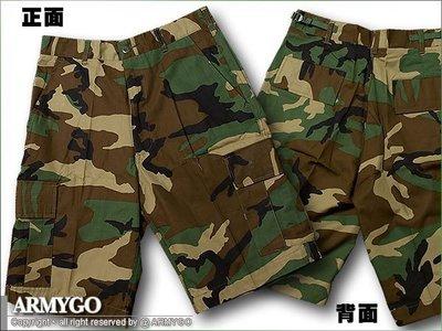 【ARMYGO】美軍叢林迷彩BDU短褲
