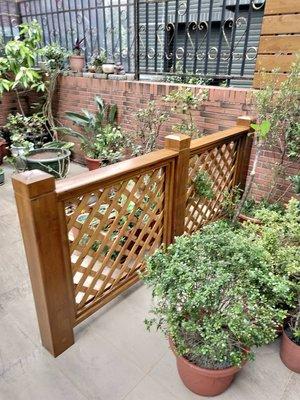 圍籬 、格柵 、圍牆 、籬笆、圍欄 、格網 南方松木圍牆