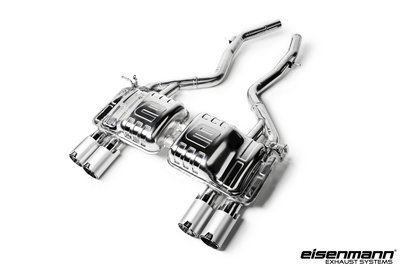 【樂駒】Eisenmann BMW F80 M3 尾段 連接管 排氣管 LOGO 四出 鍍鉻 鋁 黑 尾飾管