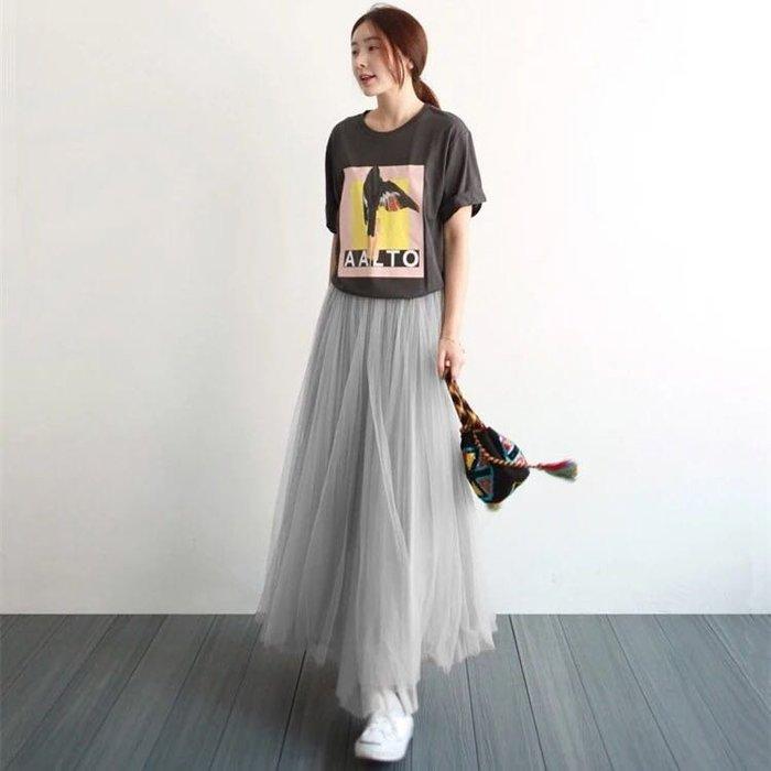 NETSHOP forgirl 韓國 女神系質感超美 多層紗質 蓬蓬長紗裙 紗裙 長裙 自助婚紗 三色