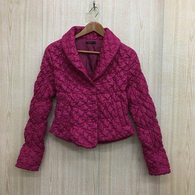 【愛莎&嵐】MOMA 女 桃紅色鋪棉立領長袖外套 / 38 1061117