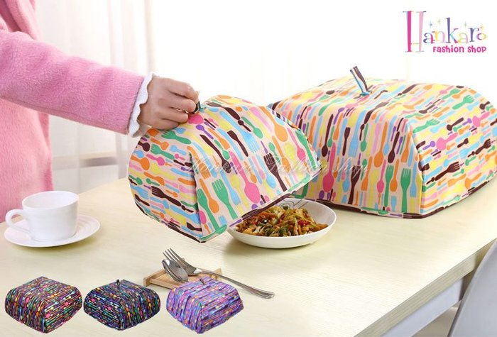 ☆[Hankaro]☆ 升級版可折疊鋁箔保溫食物罩(小尺寸)~(合併批發另洽)