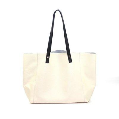手提包 真皮 托特包-印花乳白牛皮肩背女包包2款73vi2[獨家進口][米蘭精品]