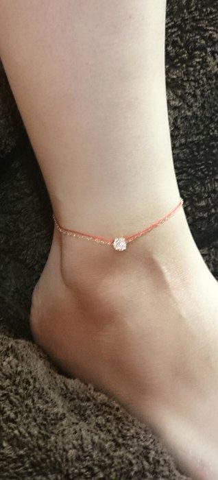 [Le Bonheur Line] 幸福線 手工訂製 / 鏈繩款 / 紅線 腳鍊 飾品 韓國 腳踝鍊 (無鑽款)