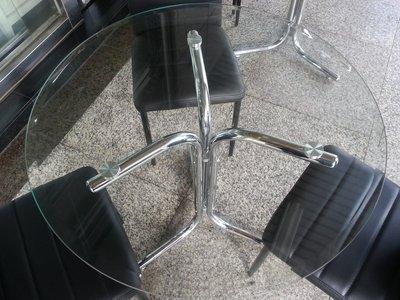 全新 玻璃 洽談桌/圓桌/餐桌/ 來來~新竹二手家具來來-收購 實木 桌椅 衣櫥 沙發 茶几 床架 冰箱 床墊 家電買賣