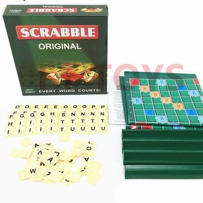 #現貨 【最強腦力】Scrabble英語填字遊戲 英文學習接龍 拼單詞教具 英語培訓 提高單詞量 拼字遊戲 暑假親子