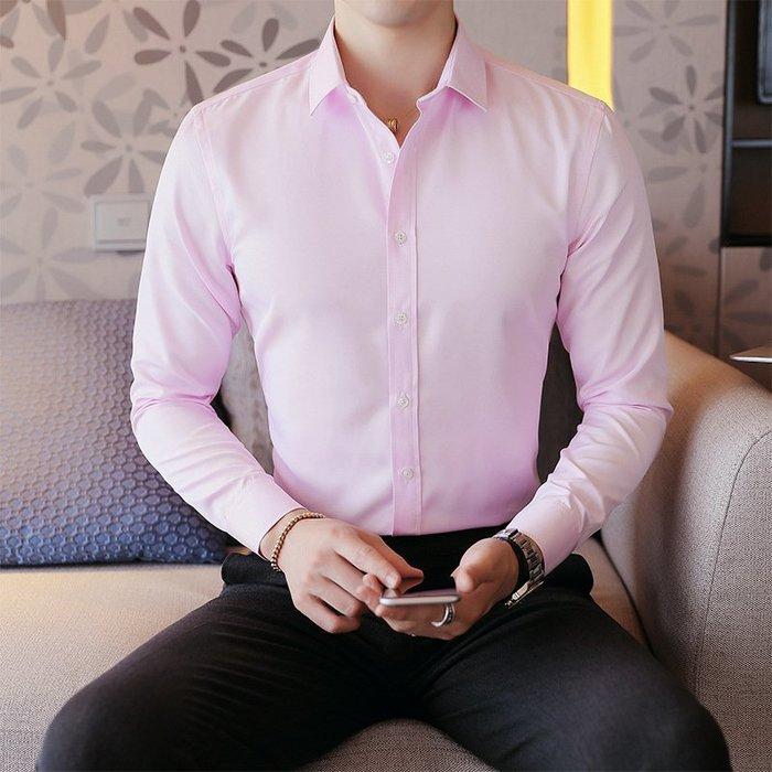 新款襯衫外貿2017秋裝新款男士韓版修身長袖襯衫型男硬漢風休閒職業工裝潮 修身襯衫