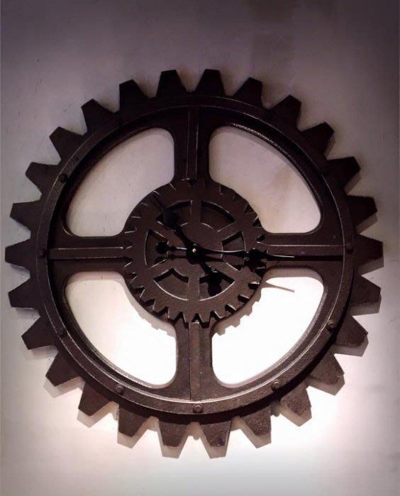 【曙muse】北歐復古齒輪大掛鐘 大時鐘 造型裝飾鐘 商店居家必選款 咖啡廳 民宿 餐廳 住家