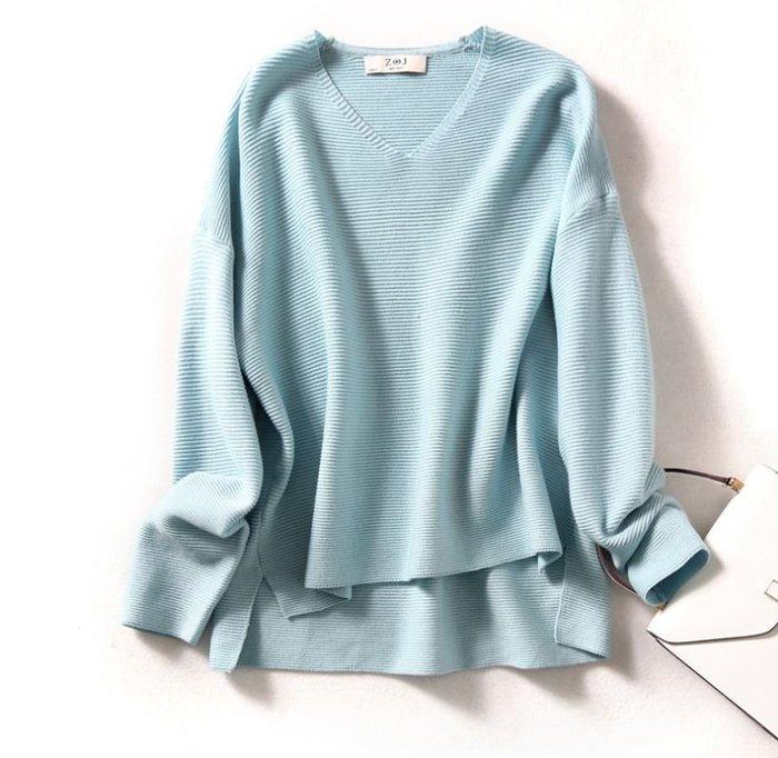 日系水波紋羊毛混紡針織上衣 1103   米蘭風情
