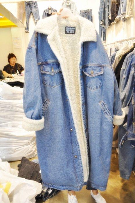 【2A Two】東大門❁超保暖 加厚 羊羔毛 牛仔外套『381018002』