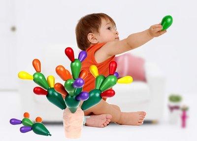 【晴晴百寶盒】木製DIY 3D仙人掌樹積木 益智遊戲 玩具 生日禮物 送禮禮品 CP值高 平價促銷 A142