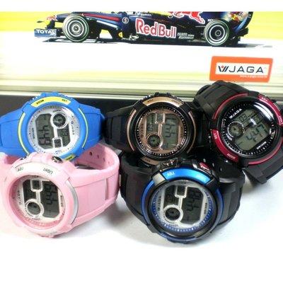 JAGA冷光電子錶 中性款 超人氣 上班族 學生錶 流行錶 運動錶 多顏色 附保固卡【↘420】M1104