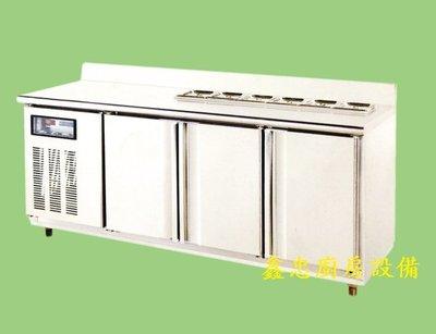 鑫忠廚房設備-餐飲設備:全新TG系列六尺工作檯冰箱-賣場有-西餐爐-快速爐-烤箱-咖啡機