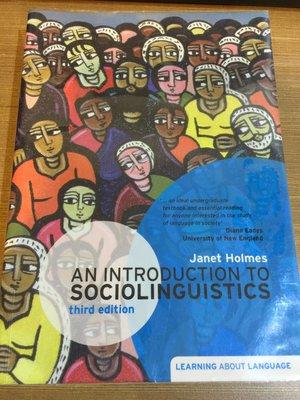 (二手書) An Introduction to Sociolinguistics (第三版) 作者:Holmes