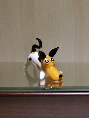 【藝晶香琉璃藝術工坊】手工琉璃 可愛小趴狗、擺飾、招財