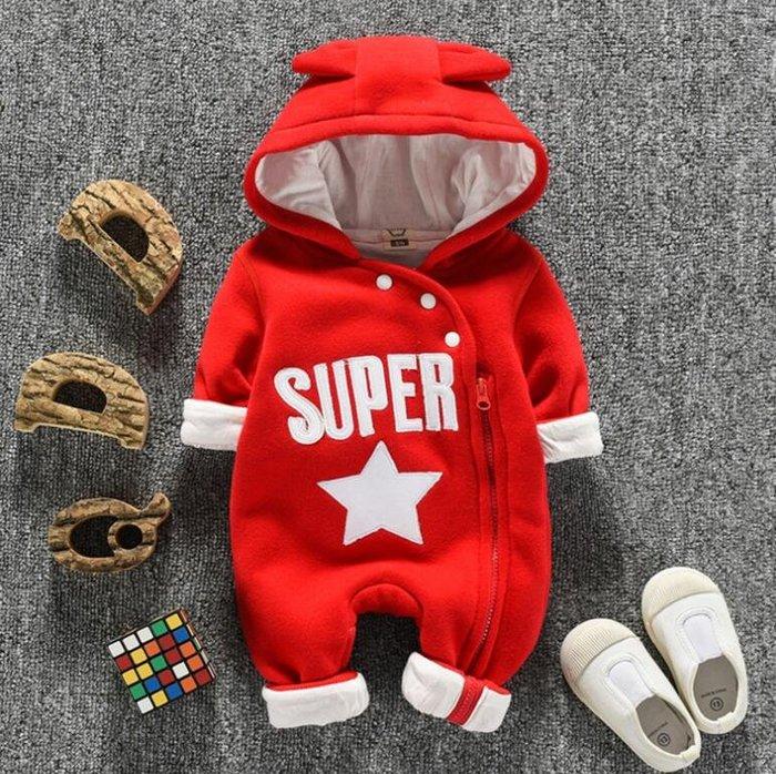 抱被 新生兒男女寶寶嬰兒衣服秋冬裝套裝 0一1歲加厚連體衣潮服外出抱衣 睡衣—莎芭