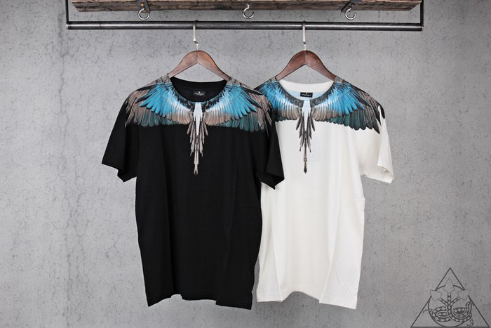 【HYDRA】Marcelo Burlon Turquoise Wings T-Shit 翅膀 羽毛 短T【MB32】