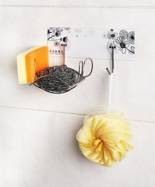 *新世代*免鑽孔貼掛系列304不鏽鋼菜瓜布架附勾,獨家革命性水槽籃!優於IKEA、Lohas,廚房架、不銹鋼置物架