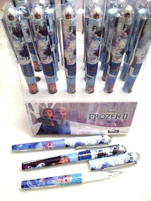 迪士尼 冰雪奇緣2 鋼珠筆0.5芯藍墨「三圖隨機出貨」