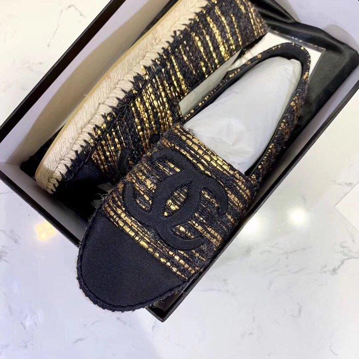 Chan*小香家 麻繩編織平底鞋樂福鞋 草編鞋 漁夫鞋 休閒帆布鞋 牛津鞋34-42碼~妖精館