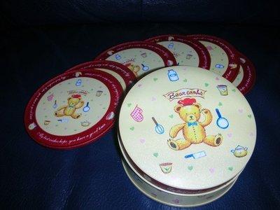 小熊軟木塞杯墊一套6個
