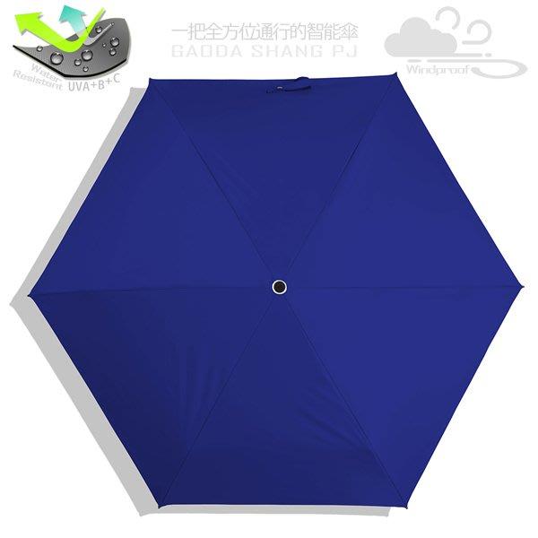 【RAINSKY傘】遮光/撥水_85cm超迷你傘(深藍) / 雨傘UV傘陽傘防風傘防曬傘降溫傘手開傘折疊傘折傘(免運)