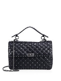 VALENTINO Quilted leather cross-body bag黑色,米,紅,藍色