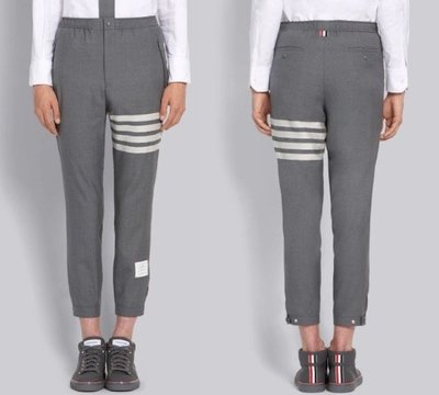 Thom Broewne PLAIN WEAVE SUITING SNAP FRONT TRACK TROUSER