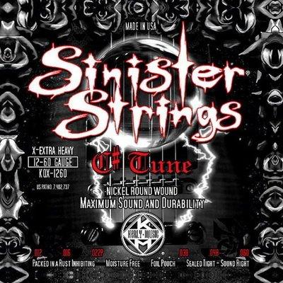 ☆ 唐尼樂器︵☆ Kerly Strings Sinister 系列冰火弦 KQXS-1260 (12-60) 美製電吉他弦 Drop Tune 降弦用