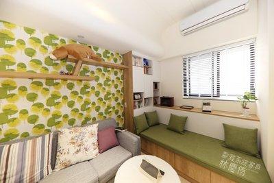 【歐雅系統家具】繽紛人生溫馨客廳 臥榻 鋁框推拉門 電器櫃