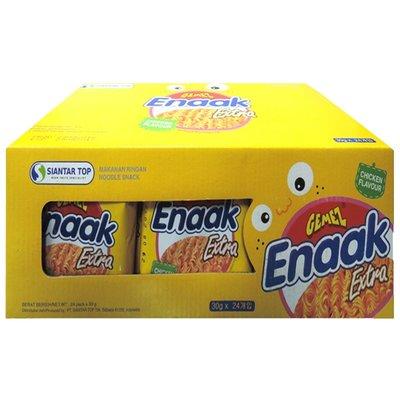 ❤風靡多年魅力依舊❤韓式Enaak小雞麵雞汁味(原味)。30gx24包/盒裝。