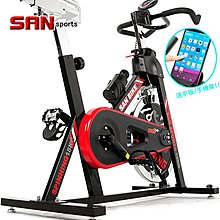 哪裡買⊙SAN SPORTS黑爵士18KG飛輪健身車推薦 C165-018 (4倍強度.18公斤飛輪車.室內腳踏車)