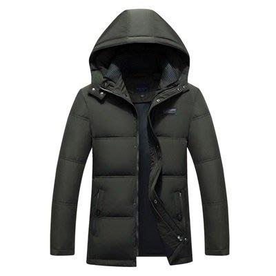 羽絨 外套 連帽夾克-純色短款加厚休閒男外套2色73un20[獨家進口][米蘭精品]