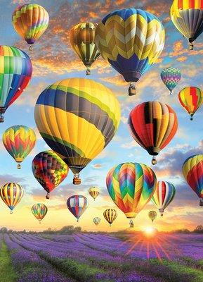 美國進口拼圖 CH.熱氣球之旅.1000片拼圖,80025
