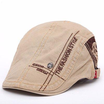 奇奇Mens Berets Hats Peaked Caps 男士純棉貝雷帽骷髏刺繡鴨舌帽