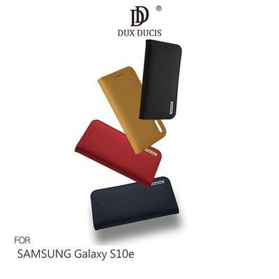 DUX DUCIS SAMSUNG Galaxy S10e WISH 真皮皮套 掀蓋 可插卡 支架【MIKO米可手機館】