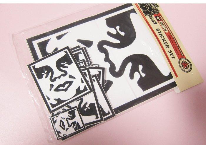 美國潮牌OBEY Sticker Pack 2 Icon Face貼紙組合包/滑板單車NB電腦手機殼水壺行李箱裝飾貼紙