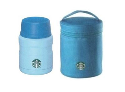 STARBUCKS 2015 台灣星巴克 夏日藍色餐食罐 470ml 附藍色提袋 超取