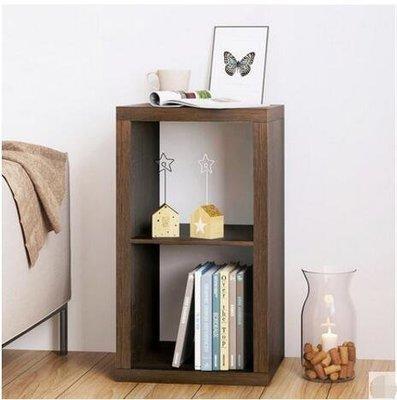 『格倫雅』格子櫃子收納櫃現代簡約儲物櫃創意自由組合格子櫃客廳書櫃置物架(兩格)^23505