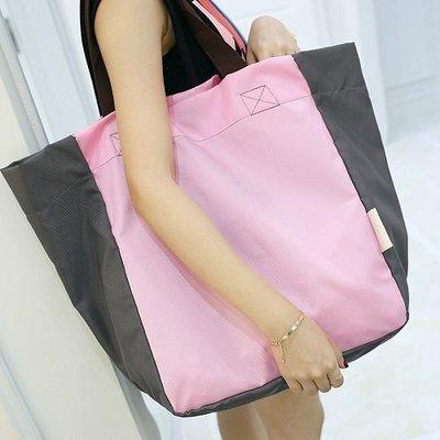 【團狠大】防水便攜折疊購物袋 大容量牛津布環保袋 旅行收納袋