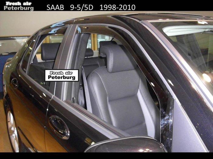 比德堡崁入式晴雨窗 紳寶Saab-95 GRIFFIN /5D 1998-2010年專用(前窗兩片價)
