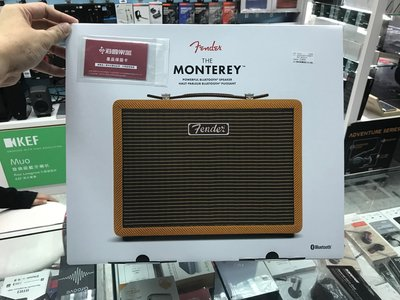 禾豐音響  公司貨保固1年  Fender Monterey無線藍牙音箱-TWEED限量版 另Marshall